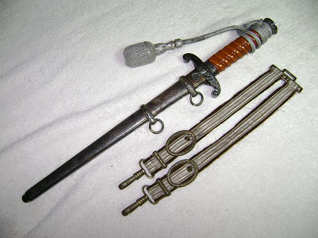 Nazi Army dagger,knot,hangers, for sale $1300