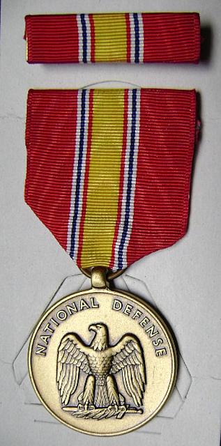 Military medal National Defense + ribbon set $8.00