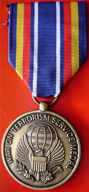 U.S. Army War On Terror medal, new $12.00