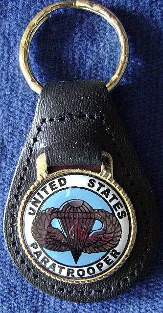 Key Ring Leather with PARATROOPER emblem $4.00