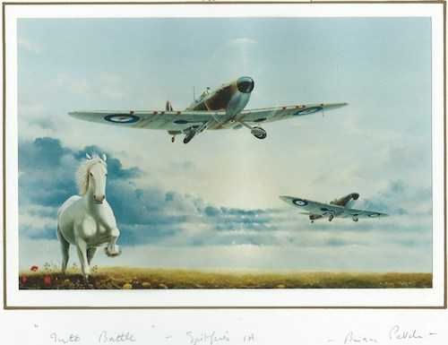 WW2 Spitfire Photo of original painting $8.99