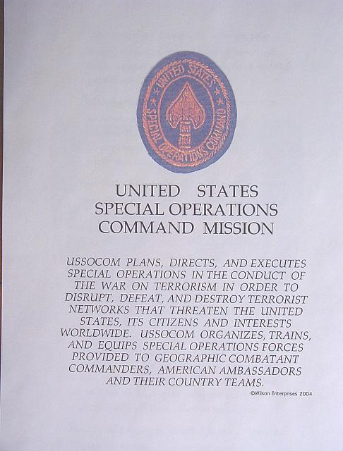 Special Operations Mission $5.00