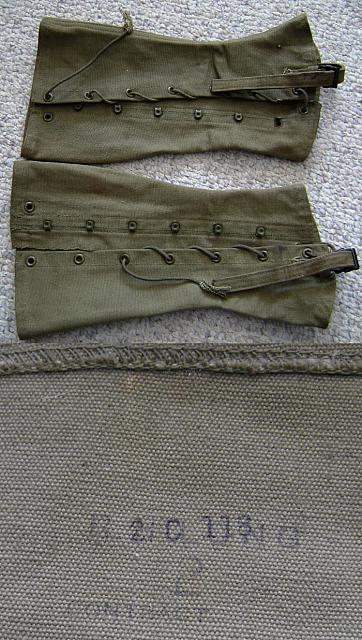 Army uniform pre WW2  canvass leggings (pair)  $25.00