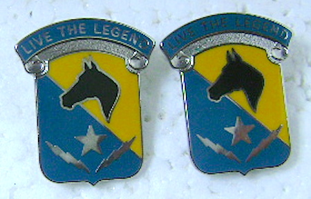 Army DUI crests 1st Cav Div STB pair $6.50