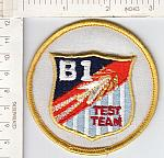 B-1 TEST TEAM me ns $3.00