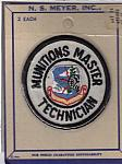 SAC Munitions Master Technician 2 pkg. me ns $10.00