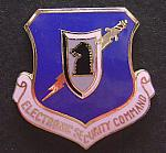 USAF Air Force Electronic Security badge enamel, cb $6.00