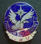 USAF Air Force Honor Squadron badge enamel, cb $10.00