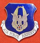 USAF Air Force Reserve badge enamel, cb $10.00