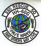 33rd Rescue Sq PAVE HAWK HH-60G ce ns $5.49