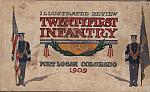21st Infantry Fort Logan Colorado 1909 hc $40.00