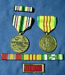 U.S. Army Vet medal & ribbon group  $30.00