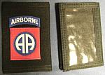 Wallet with 82nd Airborne Div insignia $5.99