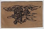 Navy SEAL emblem printed on desert color ns $4.00