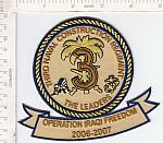 Seabees patch 3 Rgt The Leaders OIF 2006-07 ce ns $5.99