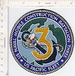 Seabees patch 3 Bn Pacific Fleet ce ns $6.00