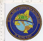 Seabees patch 4 Bn Pacific Fleet ce ns $5.99