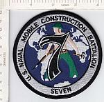 Seabees patch 7 Bn  me ns $5.99