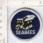 Seabees patch 2inch hat size me ns $2.50