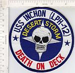 "USS Inchon (LPH-12) ""Death On Deck"" me ns $4.00"