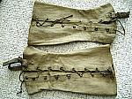 Army uniform pre WW2  canvass leggings (pair)  $15.00